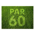 Golf a la 60.a fiesta de cumpleaños invitación personalizada