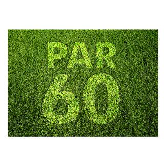 Golf a la 60 a fiesta de cumpleaños