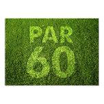 Golf a la 60.a fiesta de cumpleaños invitación 12,7 x 17,8 cm