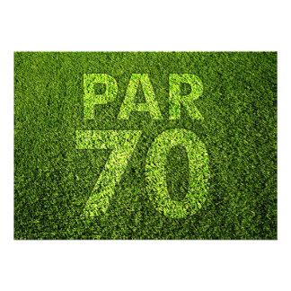 Golf a la 70 a fiesta de cumpleaños