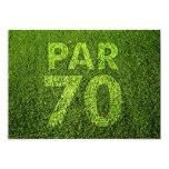 Golf a la 70.a fiesta de cumpleaños invitación personalizada