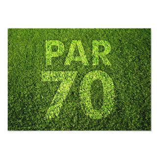 """Golf a la 70.a fiesta de cumpleaños invitación 5"""" x 7"""""""