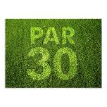 Golf a la trigésima fiesta de cumpleaños invitacion personalizada