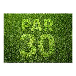Golf a la trigésima fiesta de cumpleaños