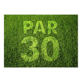 """Golf a la trigésima fiesta de cumpleaños invitación 5"""" x 7"""""""