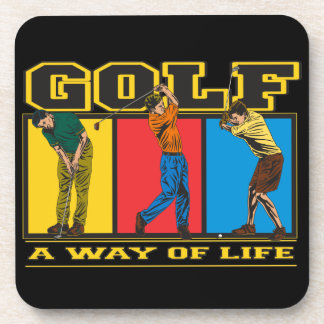 Golf A Way of Life Beverage Coasters
