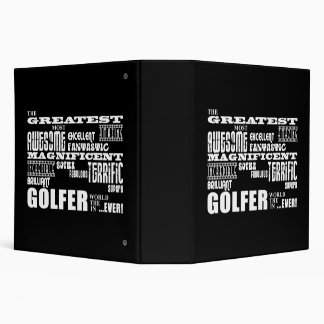 Golf Ace Golfers Greatest Golfer in the World Ever Binder