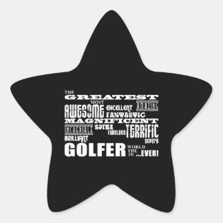 Golf Ace Golfers Greatest Golfer in the World Ever Star Sticker