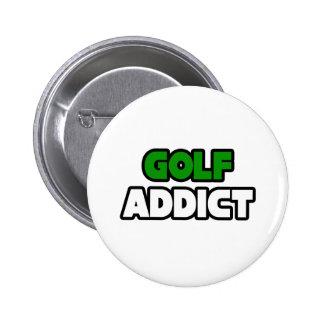 Golf Addict 2 Inch Round Button