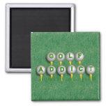 Golf Addict Refrigerator Magnet