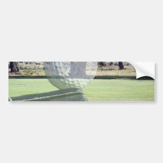 Golf_Addiction, _(de la bola y del club) Etiqueta De Parachoque