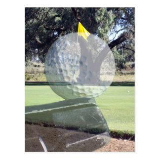 Golf_Addiction, _(de la bola y del club) Postal