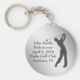 Golf Agujero-en-uno personalizable de la conmemora Llaveros Personalizados