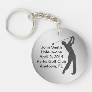 Golf Agujero-en-uno personalizable de la conmemora Llavero Redondo Acrílico A Una Cara