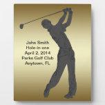 Golf Agujero-en-uno personalizable de la conmemora Placas