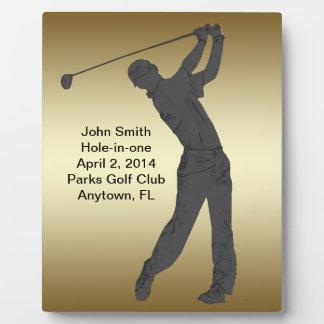 Golf Agujero-en-uno personalizable de la conmemora Placas Con Foto
