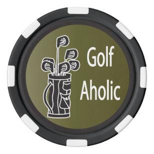 Golf Aholic Golfer Poker Chips