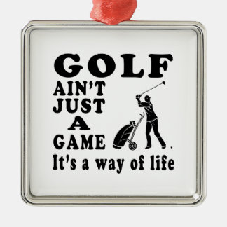 Golf Ain't Just A Game It's A Way Of Life Christmas Tree Ornaments