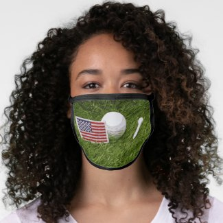 Golf America USA flag All-Over Print Face Mask