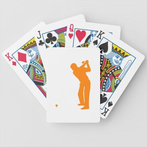 Golf anaranjado barajas de cartas
