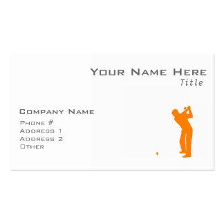 Golf anaranjado plantilla de tarjeta de visita