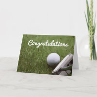 Golf and putter Congratulation card for golfer