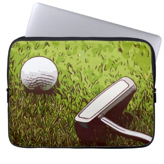 Golf and putter laptop sleeve