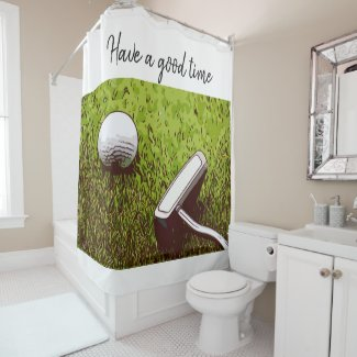 Golf and Putter Shower Curtain