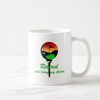 Golf and retirement classic white coffee mug