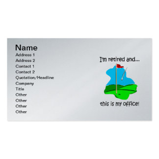 golf and retirement Double-Sided standard business cards (Pack of 100)