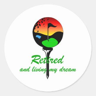Golf and retirement classic round sticker