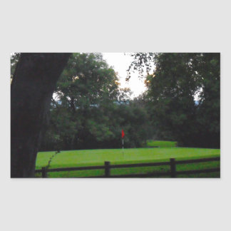 Golf Anyone Rectangular Sticker