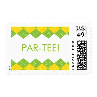 Golf Argyle Par-Tee Postage Stamp
