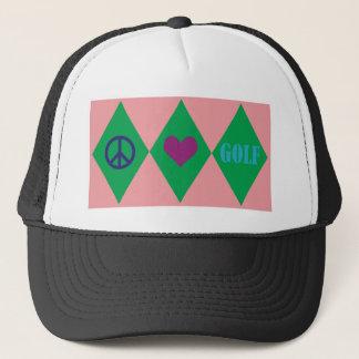Golf Argyle Trucker Hat
