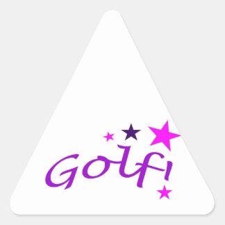 Golf arqueado con las estrellas pegatina triangular
