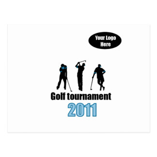 Golf artwork Blue.ai Postcard