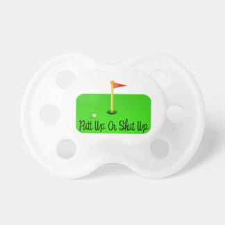 Golf ascendente o cerrado del putt chupetes para bebes