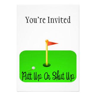 Golf ascendente o cerrado del putt anuncio personalizado