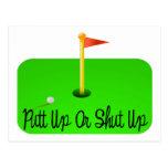 Golf ascendente o cerrado del putt postal