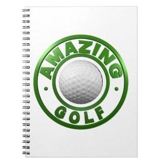 Golf asombroso libro de apuntes