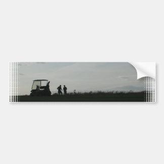 Golf at Dusk Bumper Sticker Car Bumper Sticker