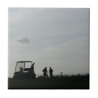 Golf at Dusk Tile or Trivet