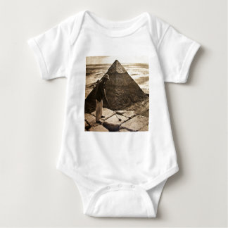 Golf at the Pyramid Sepia Toned Baby Bodysuit