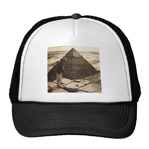 Golf at the Pyramid Sepia Toned Trucker Hat