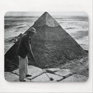 Golf at the Pyramid Vintage Black and White Mouse Pad