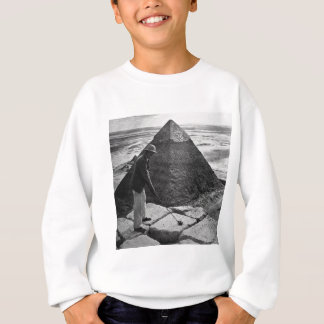 Golf at the Pyramid Vintage Black and White Sweatshirt