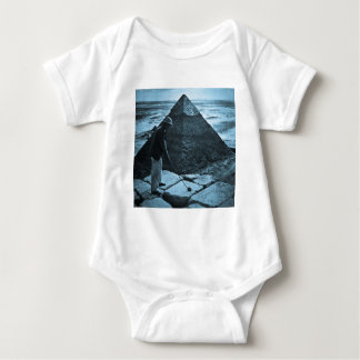 Golf at the Pyramid Vintage Blue Toned Baby Bodysuit