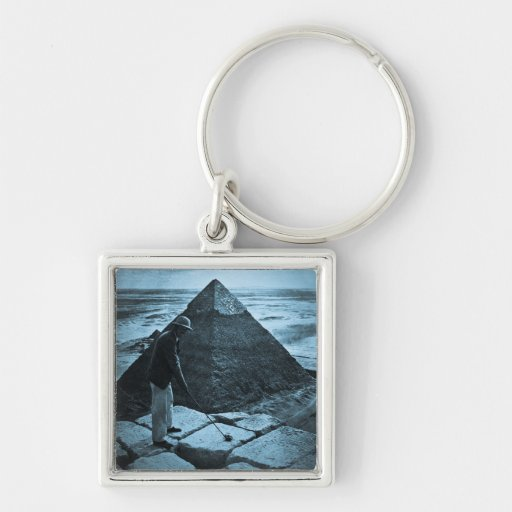 Golf at the Pyramid Vintage Blue Toned Key Chains