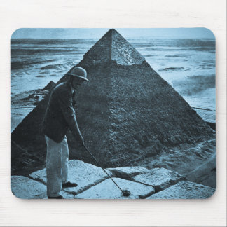 Golf at the Pyramid Vintage Blue Toned Mouse Pad