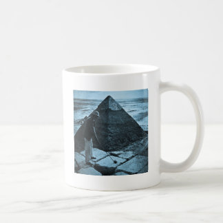 Golf at the Pyramid Vintage Blue Toned Mugs